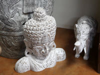 hand carved buddha sculpture